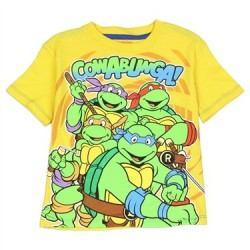 Nick Jr Teenage Mutant Ninja Turtles Cowabunga Yellow T Shirt